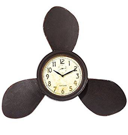 Midwest-CBK Nautical Wall Clock 24x20 inch Propeller Wall Clock