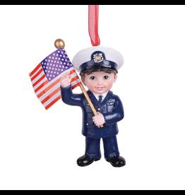 Kurt Adler U.S. Coast Guard Kid Ornament 3.75 inch