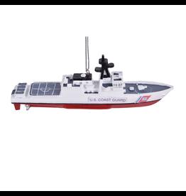 Kurt Adler U.S. Coast Guard Ship Christmas Ornament 4.75 inch