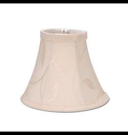 Darice Lamp Shade Clip On Light Bulb 5 inch Cream w Swirl Leaf
