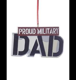 Kurt Adler Military Sign Ornament - Proud Military Dad