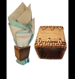 Bamboo Rattan Napkin Ring -Square