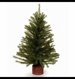 Darice Mini Christmas Tree w Wood Base 15 inch