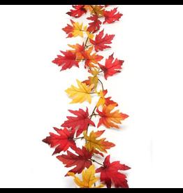Darice Fall Leaf Garland Maple Leaves 6 Feet Fall Floral Decor