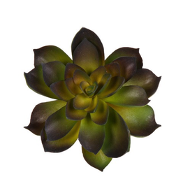 Darice Faux Succulent Green and Dark Purple Echeveria Rosette 4.5 inch