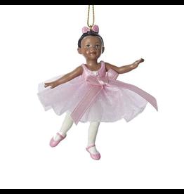 Kurt Adler Little Black American Girl Ballerina Ornament 3.25 Inch