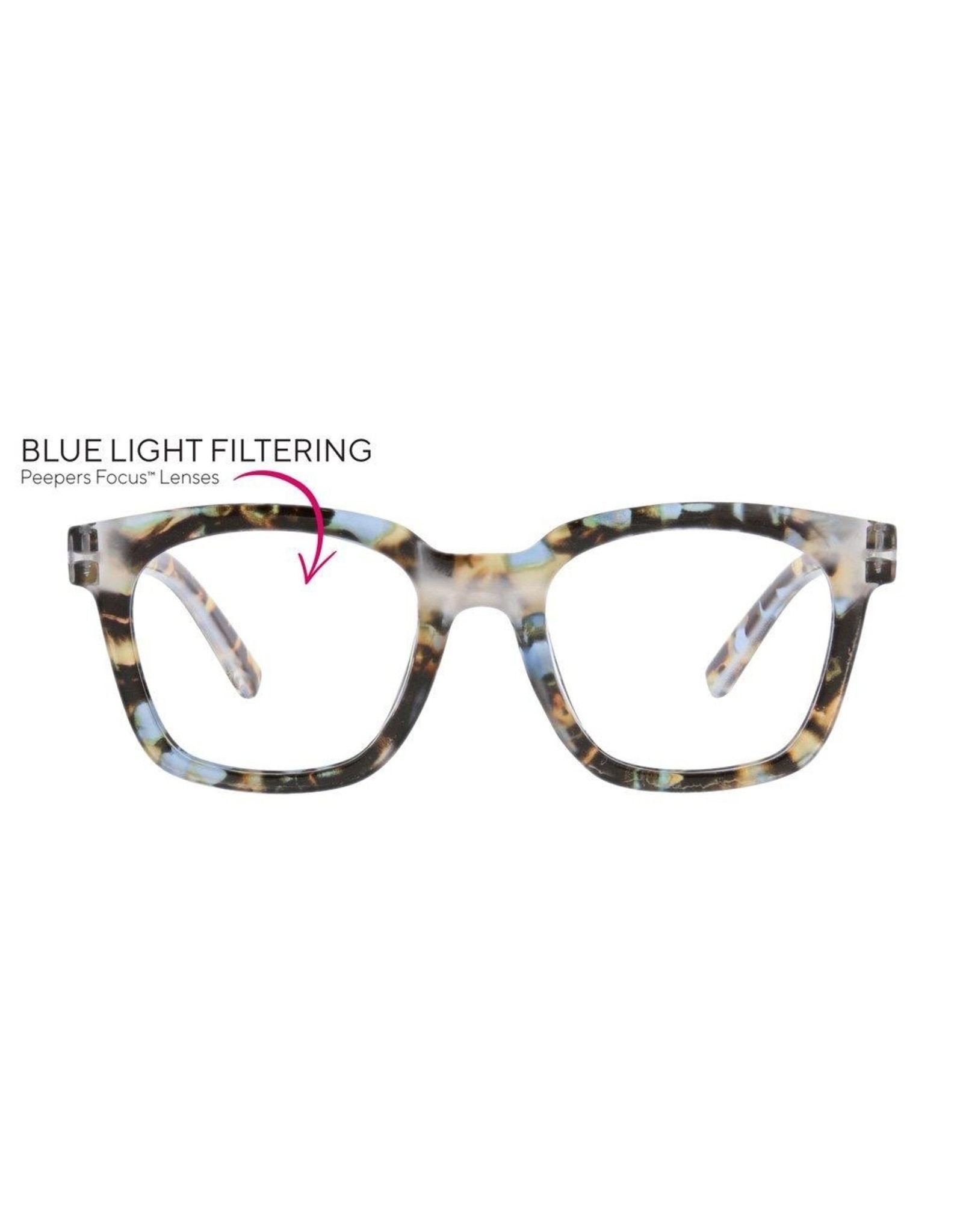 Reading Glasses To The Max  Blue Light Blue Quartz +2.25
