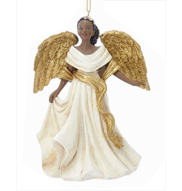 Kurt Adler Black American Angel Ornament -C