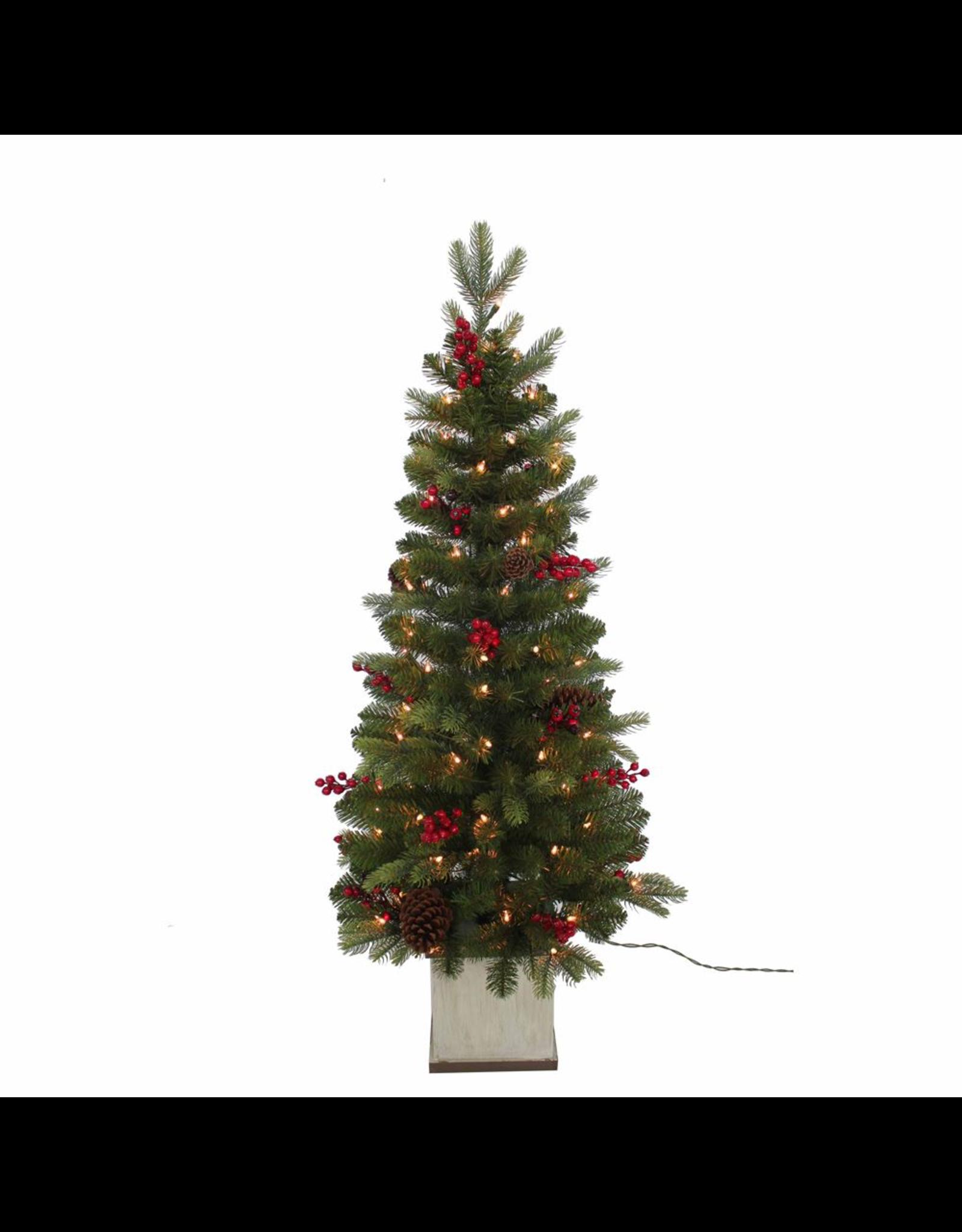 Kurt Adler Christmas Tree 4ft Pre Lit Berry Topiary Tree Digs N Gifts