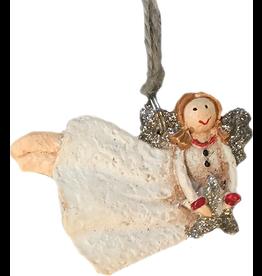 Darice Mini Angel Ornament Flying Holding Star