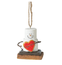 Midwest-CBK Smores Ornament w I Love You Red Heart