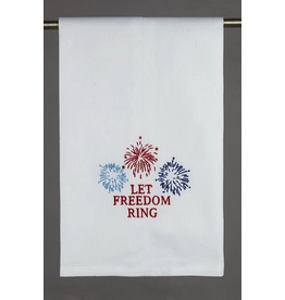Peking Handicraft Patriotic Kitchen Towel w Let Freedom Ring 16x25