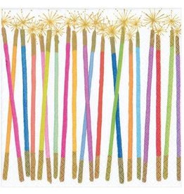 Caspari Paper Cocktail Napkins 20pk Birthday Candles Sparklers