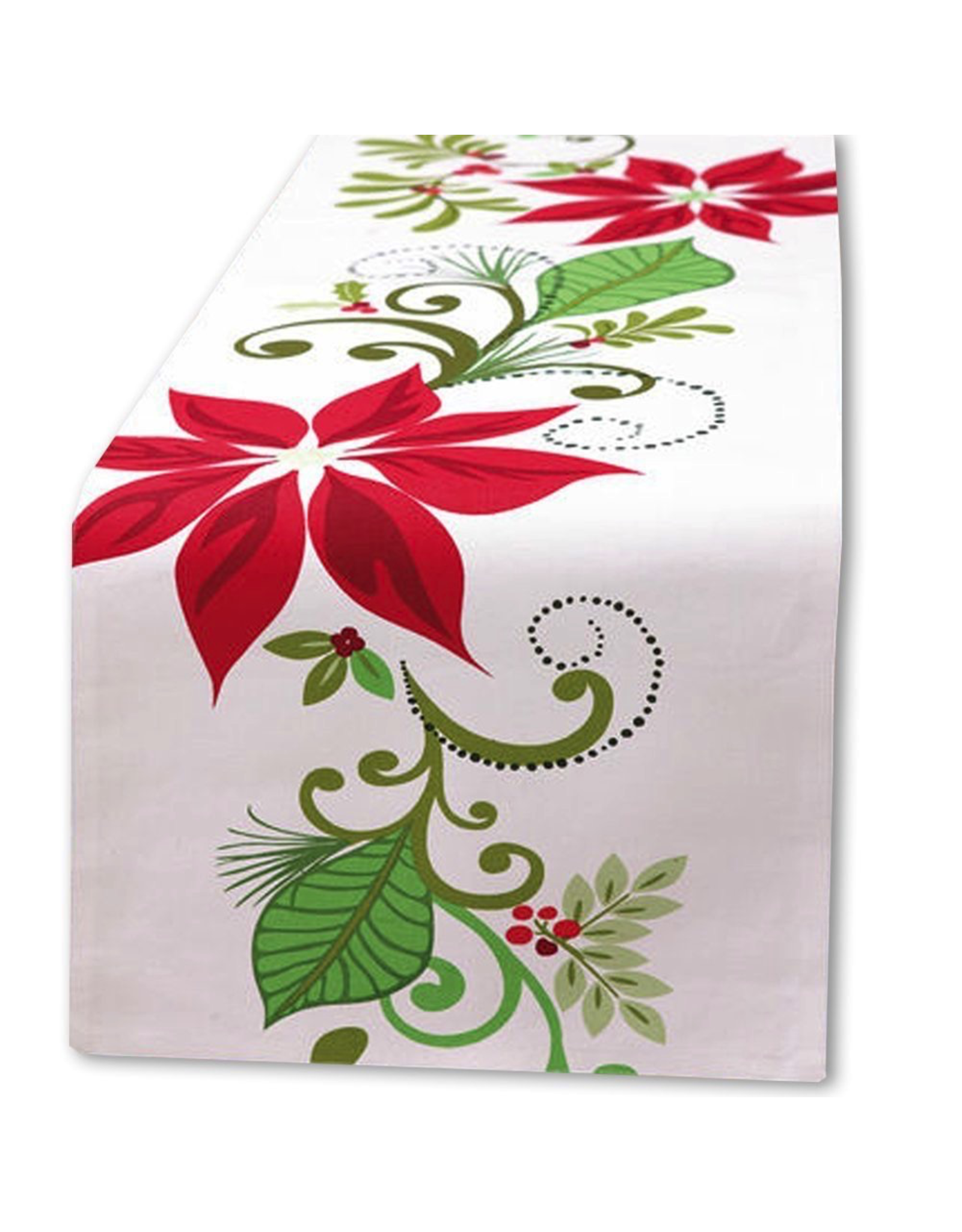 Peking Handicraft Christmas Table Runner 72l Poinsettia By Kate Spain Digs N Gifts