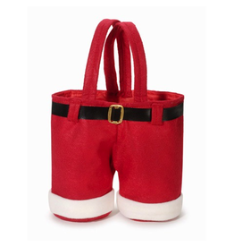 Darice Christmas Santa Pants Treat Goodie Bag 9 inch