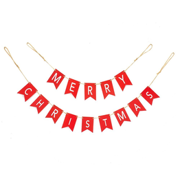 Kurt Adler Red Merry Christmas Paper Banner Novelty Garland