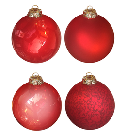 Mark Roberts Christmas Decorations Ball Ornaments 6 inch Set of 4 RED