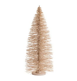 Darice Glittered Bottle Brush Christmas Tree 28 inch Champagne Gold