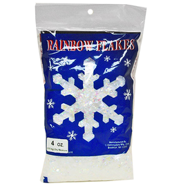 Darice Rainbow Snowflakes Iridescent Snow 4oz Bag Loose Pieces Style