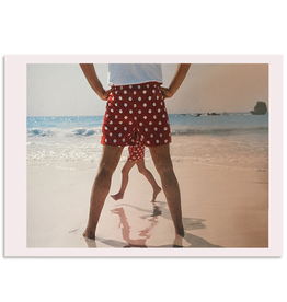 Palm Press Fathers Day Card Role Model Polka Dot Shorts on Beach