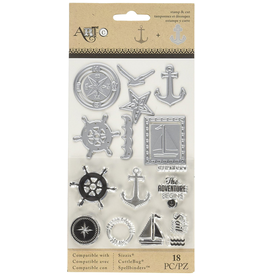 Art-C Art-C Stamp and Die Set - Nautical 18 PC