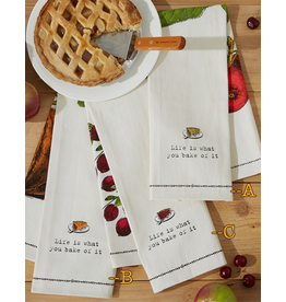 Twos Company Farm to Table Dish Towel with Pie Server -B Pumpkin Pie