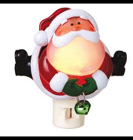 Midwest-CBK Christmas Nightlights Santa w Jingle Bell Night Light