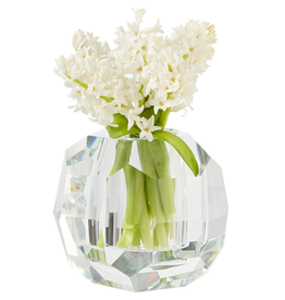 Octagonal Glass Crystal Vase Candle Holder 6.25H x 7D