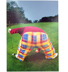 Fathers Day Card Off Course Dad in Plaid Pants Golfing