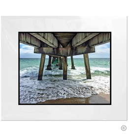 Maureen Terrien Photography Art Print Pier Lauderdale By The Sea 8x10 - 11x14 Matted