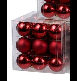 Kurt Adler Mini Glass Balls Christmas Ornaments 25MM Set of 27 Red