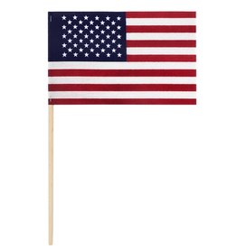 Valley Forge Hand Held U.S. American Flag 4x6 on 1ft Wood Dowel