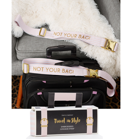 Twos Company Embroidered Luggage Strap w Not Your Bag