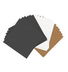Paper Leather Sheets 20ct 6x6 inch - Assorted Basics