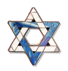 Glistening Glass Mosaics Jewish Star of David 6x5 inches