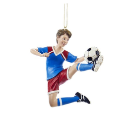 Kurt Adler Soccer Player Ornament - Boy