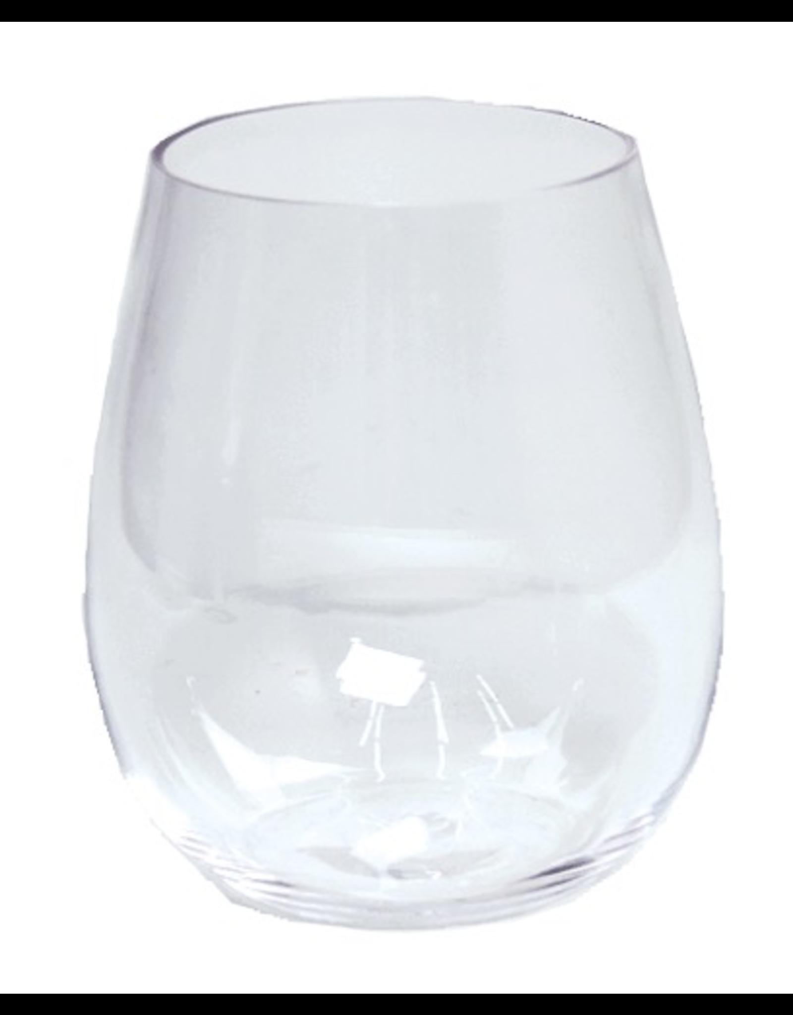 Caspari Acrylic Stemless Wine Glass 14oz Shatter Resistant BPA Free