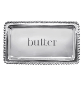 Mariposa Engraved Sentiment Tray 3905BU Butter