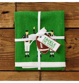 Twos Company Game Day Football REFEREES Dish Towel w Bottle Opener Set