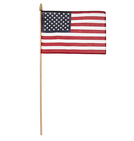 Valley Forge Hand Held U.S. American Flag 8x12 on 2ft Wood Dowel
