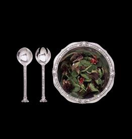 Arthur Court Designs Soho Salad Serving Bowl Set 12Dx3.5H Aluminum Serveware