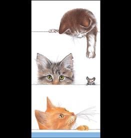 Caspari Paper Facial Tissues Kitties Hankies 10pk