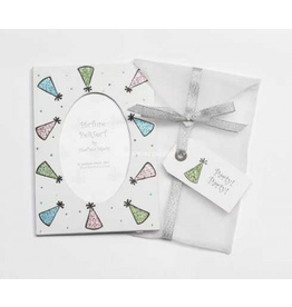Photo Frame Greeting Card Party! Party! White Party Hat Frame