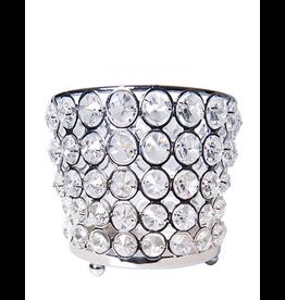 Mark Roberts Home Decor Crystal Jewel Beaded Votive Holder 4x4in