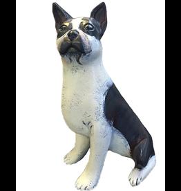 Harmony Kingdom Lynda Pleet Menagerie Boston Terrier Ceramic Figurine Black