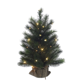 Kurt Adler Christmas Tree Pre-Lit 2 FT Highland Tree w Clear WW Lights