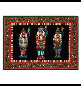 Peking Handicraft Christmas Hook Rug Nutcracker Pageantry 34x47