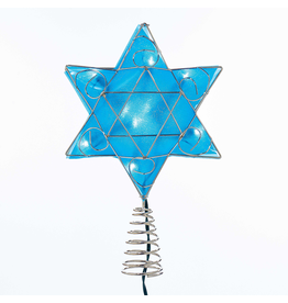 Kurt Adler Hanukkah Shimmer Star of David Tree Topper