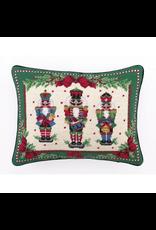 Peking Handicraft Christmas Needlepoint Pillow 14x18 Nutcracker Melody