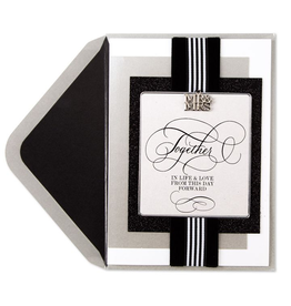 PAPYRUS® Wedding Card Black and White Mr and Mrs